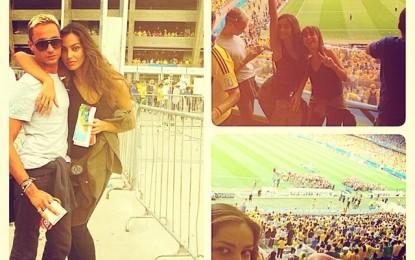 Ce romanca s-a distrat la meciul Germania Brazilia
