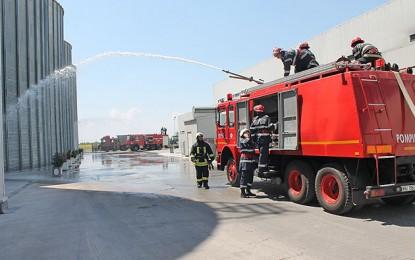 Incendiu de proporţii la cea mai mare moară de porumb din sud-estul Europei