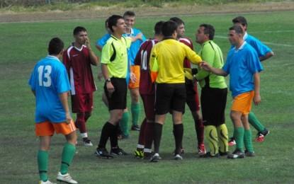 Arbitru înjurat şi scuipat la meciul Tarna Mare-Dorolţ II