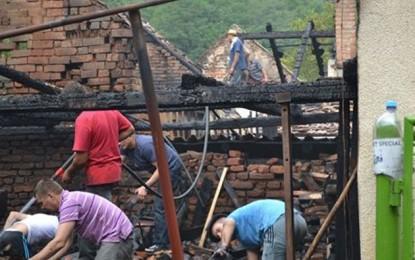 Un bărbat a ars de viu într-un incendiu