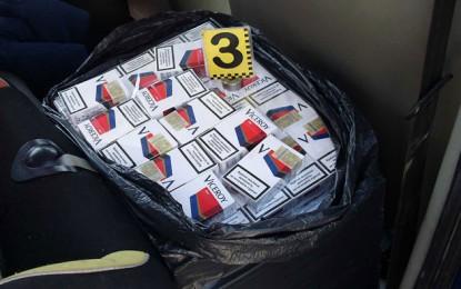 Mii de pachete de ţigări de contrabandă, confiscate în octombrie