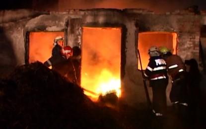 Incendiu la o anexa gospodareasca din Bercu