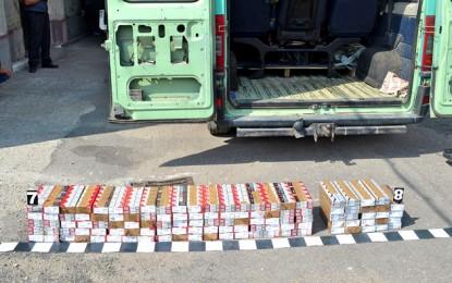Peugeot burduşit cu peste 1.000 de pachete de ţigări