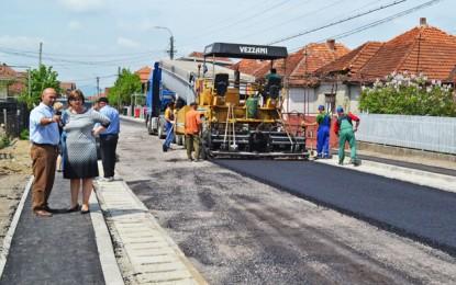Lucrările de modernizare continuă la Negrești-Oaș