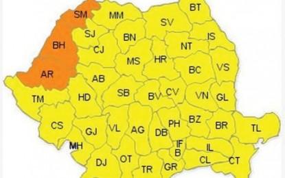 Codul portocaliu de caniculă, prelungit până miercuri